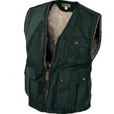 Men's Fire Hose Iron Range Lined Work Vest