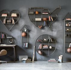 Restoration Hardware Industrial Wire Cubby Shelves: Wire cubbies lend a warehouse aesthetic to the bedroom or playroom while helping contain clutter and keeping things organized.