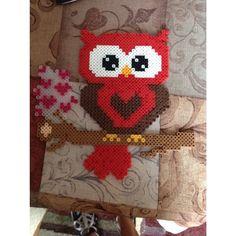 Owl perler beads by theperlerbeadmakers