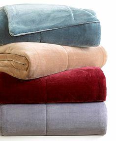 Vellux Bedding, Plush Luxury Blankets - Blankets & Throws - Bed & Bath - Macy's