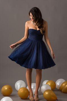 Strapless Tulle Dress – Morning Lavender
