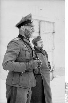 Theodor Scherer, commander of Kampfgruppe Scherer, Cholm Pocket, Soviet Union, Winter 1942.