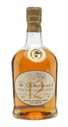 Glendronach 12 yo Single Malt Scotch Whisky bottled in for spanish market (Dinosa) Good Whiskey, Scotch Whiskey, Irish Whiskey, Spirit Drink, Hooch, Single Malt Whisky, Non Alcoholic Drinks, Wine And Spirits, Bottle Design