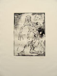 LAURAS TRAUM   etching   auqatinta, aguafuerte, punta seca, mezzotinta   aquatinta, Ätz-& Kaltnadelradierung, mezzotinto   65x50cm