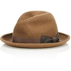 Barbisio Men s Short-Brim Fedora (£180) ❤ liked on Polyvore featuring men s 8a192ee9fa89
