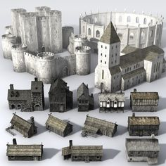 3ds medieval building