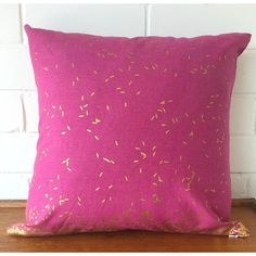 This is a VERY happy little cushion. Search 'metallic gold and pink grain cushion' on dtll.com.au or click on the shopable link in our profile #dtll #downthatlittlelane