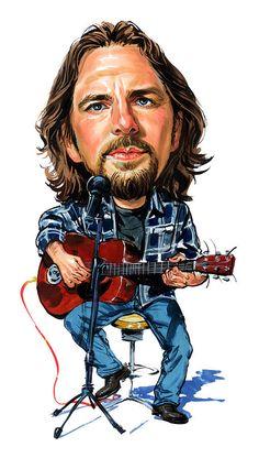Eddie Vedder of the rock band Pearl Jam (by Art)