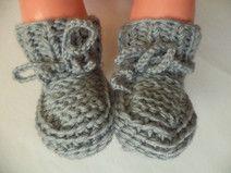 Babyschuhe gestrickte Socken Gr. 50/56 Merinowolle