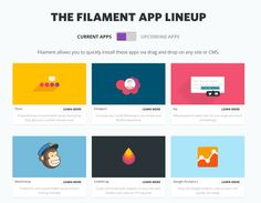 current apps   Never Touch Code Again: Filament.io, For Non Developers Everywhere