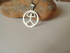 Indalo Man necklace ~ stainless steel circle Unique Presents, Unique Gifts, Great Gifts, Man Necklace, Good Fortune, Special Gifts, Spain, Stainless Steel, Jewellery