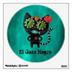 Black #Cat  #DayofTheDead #diadelosmuertos #WallStickers