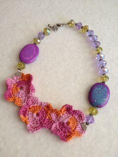 Handmade Crochet Necklaces by hebaalayyan on Etsy, $32.00