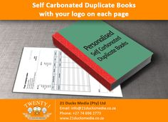 Get personalized Self Carbonated Duplicate Books with your company logo and contact details for your business. Ideal for Invoices, Delivery Notes, Quotations & Receipts. Comment with your email address or send a email to get more info. Email: info@21ducksmedia.co.za Website: www.21ducksmedia.co.za Phone: +27 74 696 2773 Facebook: www.facebook.com/21DucksMedia