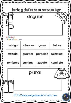 Spanish Classroom Activities, Learning Spanish For Kids, Teaching Spanish, Spanish Grammar, Spanish Language, Dual Language Classroom, Spanish Worksheets, Therapy Worksheets, Montessori Education