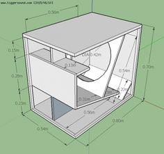 Diy Subwoofer, Subwoofer Box Design, Speaker Box Design, Subwoofer Speaker, Rcf Audio, Sub Box Design, Audio Box, Diy Amplifier, Speaker Plans