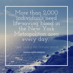 The Church of God World Mission Society is bringing this life-saving event to the New York Metropolitan area. We can learn through saving lives with the blood how amazing the Passover is! Check out this link for the United States-based ongoing blood drive event locations: http://zionusa.org/donateblood/