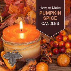 DIY Pumpkin Spice Candle This pumpkin spice candle will get you in the mood for fall! Stock up on supplies, and make a few for gifting this season! How To Make Pumpkin, Diy Pumpkin, Homemade Candles, Homemade Gifts, How To Make Scented Candles At Home, Diy Candles Scented, Paraffin Candles, Diy Gifts, Candle Containers