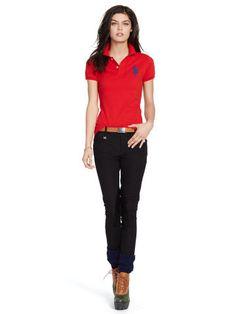 Skinny Fit Polo Shirt Polos Polo Shirts Ralphlauren