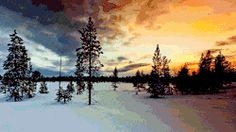 gif snow winter landscape nature norway sunset Finnmark Kirkenes