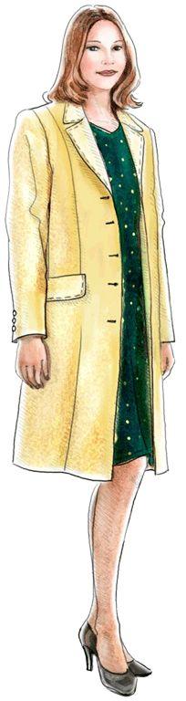 Free Pattern- #5074 Classic-Style Short Coat
