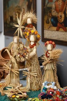 Traditional Ukrainian straw figurines. Photo by Bohdan Poshyvailo https://www.facebook.com/honchar.museum