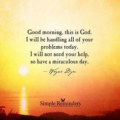 Hello God! And thanks!