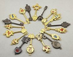 Fairytail. Lucy's Keys - but she doesn't have Libra or Pisces and why is Capricorn's missing?!