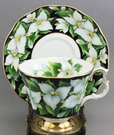Royal Albert Tea Cup and Saucer Trillium, provincial series, Ontario | eBay (also in flora series)