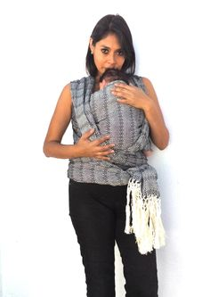 Baby carrier wrap long mexican rebozo, with wearing manual. Mexican Wraps, Baby Hammock, Baby Wrap Carrier, Color Calibration, Baby Wraps, Mexican Style, 1 Piece, Hand Weaving, Ruffle Blouse