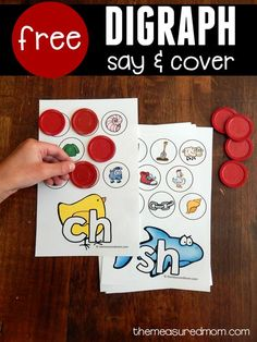 This free printable activity is a quick way to teach the sounds of consonant digraphs.