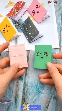 DIY - CUTE PAPER BOOK 🥰  <br> Diy Crafts Hacks, Diy Crafts For Gifts, Diy Home Crafts, Diy Arts And Crafts, Creative Crafts, Fun Crafts, Simple Crafts, Tape Crafts, Book Crafts