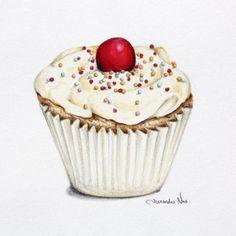 Cupcake illustration by Alexandra Nea