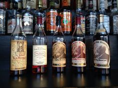 Gamlin Whiskey House St Louis, Proprietor's List. What I would not give to have a dram of each one!