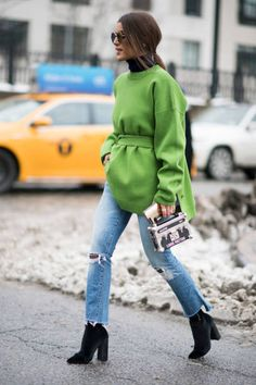Camila Coelho seem in the streets of Manhattan during the New York Fashion Week February 2017 on February 11 2017 in New York City