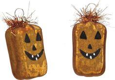 Halloween Party Prop Glass Pumpkin Ornaments Set 6 Haunted House Decor  #HalloweenPartyProp