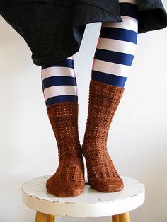 Love these socks and tights!  #knit #knitted #yarn #handmade #craft #ravelry