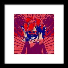 Odd Character Framed Print featuring the digital art Mie Mie by Caroline Gilmore