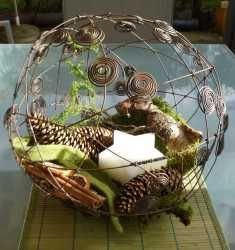 Love the florals within the sphere.