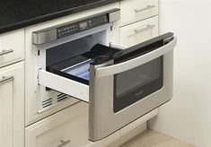 Love it, it is a drawer microwave. No more under cabinet mounting or wasting counter space.