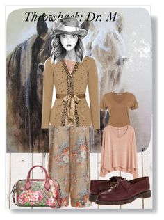 """Brown Girl in the Fall"" by peeweevaaz ❤ liked on Polyvore featuring Ren-Wil, Zimmermann, Miss Selfridge, MANGO, Valentino, Dr. Martens and Gucci"