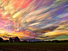 Photographer Matt Molloy has began experimenting with time-lapse sequences by taking hundreds of images as the sun set and the clouds moved through the sky.