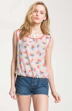 WallpapHer Print Blouson Tank (Juniors) | Nordstrom - i own this but its on sale right now $16