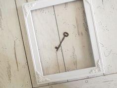 Vintage Frame White Ornate Photo Frame by SeasideRoseCreations
