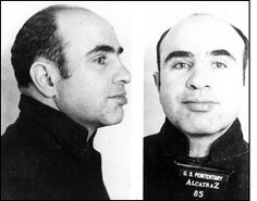 Al Capone.  Born of an immigrant family in Brooklyn, New York in 1899, Al Capone quit school after the sixth grade and associated with a notorious street gang, becoming accepted as a member.  That was just the beginning.