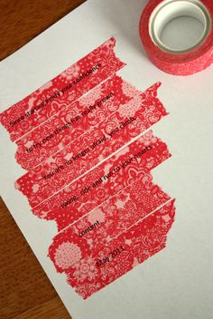 Printing onto Washi Tape - How-To Tutorial (easy).
