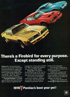 1978 Pontiac Firebird, Esprit, Formula and  Trans Am
