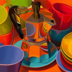 """""""Her Harlequin Hovers Nearby"""" - Marian Dioguardi (oil)"""