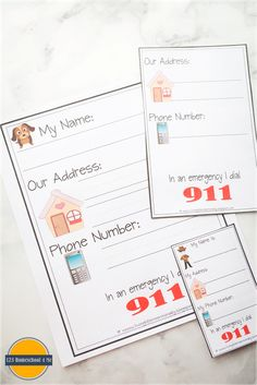 FREE Learn My Name & Address Printables