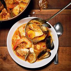 This is a melting pot of classic fisherman's stews: cioppino, bouillabaisse, gumbo, jambalaya, and paella — all opportunistic dishes born from the unpredictability of the day's catch. — Chef Bryan Caswell, Reef CLICK HERE for the full recipe   - Esquire.com